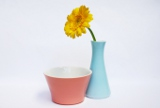 Lilienporzellan Daisy Vasen und Zuckerdosen