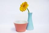 Lilien-Porzellan Daisy Vasen und Zuckerschalen