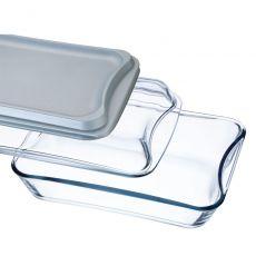 Simax Brat- und Backschale mit Deckel aus Glas und Kunststoff 2,5l