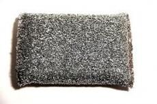 Sponge Luxus Glänzerkissen silber  3 stück