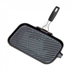 Le Creuset Steakgrillpfanne rechteckig 36x20 cm schwarz