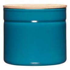 Riess Vorratsdose mit Eschenholzdeckel 1390ml Silent Blue