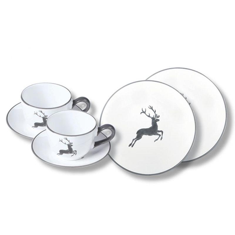 gmundner keramik grauer hirsch breakfast for two. Black Bedroom Furniture Sets. Home Design Ideas