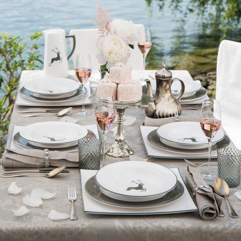 gmundner keramik hirsch grau speiseteller gourmet. Black Bedroom Furniture Sets. Home Design Ideas