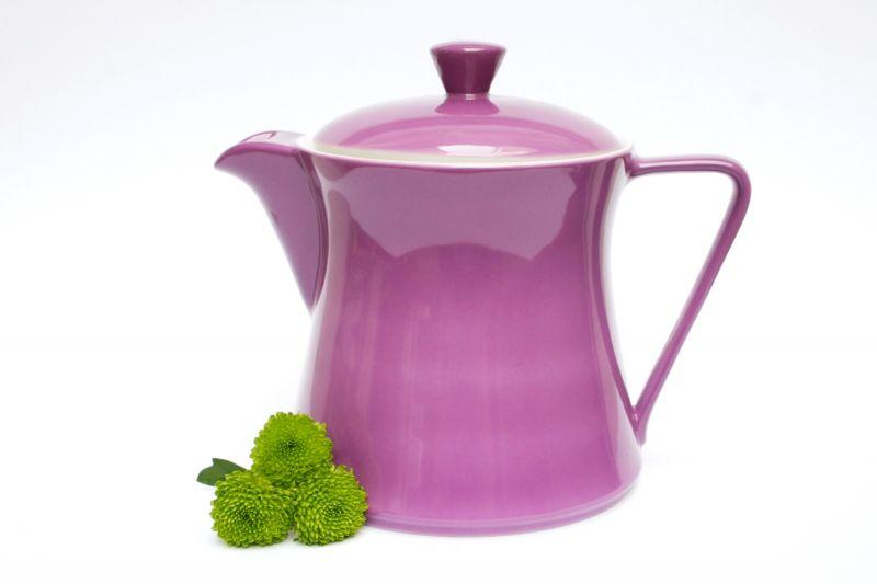 lilien porzellan daisy teekanne 1 5l violett. Black Bedroom Furniture Sets. Home Design Ideas