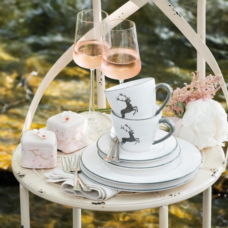 gmundner keramik grauer hirsch kaffeeh ferl glatt 0 24l. Black Bedroom Furniture Sets. Home Design Ideas