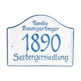 Gmundner Keramik Türschild personalisiert
