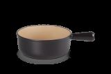 Le Creuset Caquelon 18 cm schwarz matt