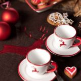 Gmundner Keramik Rubinroter Hirsch Weihnachts-Zapfen