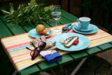 Lilien-Porzellan Daisy Teller flach 19cm Lasurblau