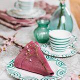 Gmundner Keramik Grüngeflammt Frühstück für zwei Gourmet - Geschenkset