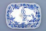 Zwiebelmuster Butterdose gross mit Deckel 19cm - Original Bohemia Porzellan aus Dubi