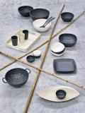 magu Natur-Design Knoblauchtopf Schiefer mit Bambusholzdeckel
