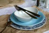 Lilien-Porzellan Daisy Servierplatte oval Lasurblau - in 2 Größen