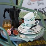 Gmundner Keramik Pur Geflammt grün Dessertteller Cup (Ø 20cm)