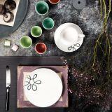 Gmundner Keramik Pur Geflammt grau Hüttenfrühstück für zwei Cup - Geschenkset