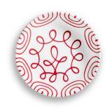 Gmundner Keramik Rotgeflammt Suppenteller Cup (Ø 20cm)